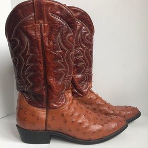Durango exotic full quill ostrich leather boot 13D